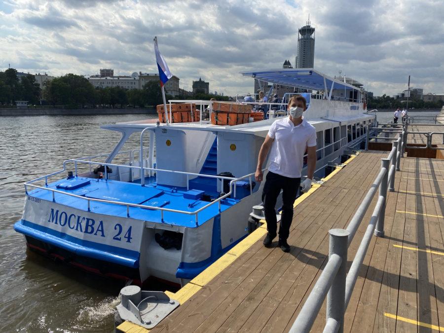 прогулки от причала Новоспасский мост