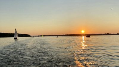 sunset flyriver